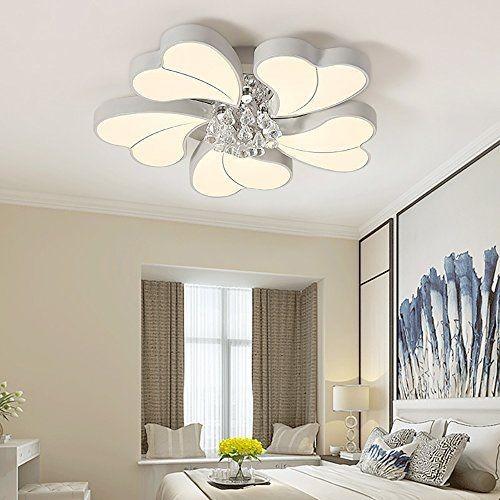 45W+3W LED Deckenlampe Leuchte Kristall Volldimmbar mit Fernbedienung PS6932-5L