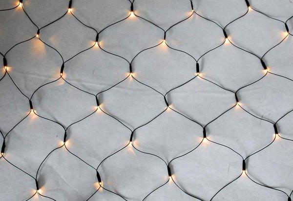 Style home LED Lichternetz Lichterkette 3.2 x 1.5m 8 Leuchtmodi & Timer-Funktion Indoor & Outdoor
