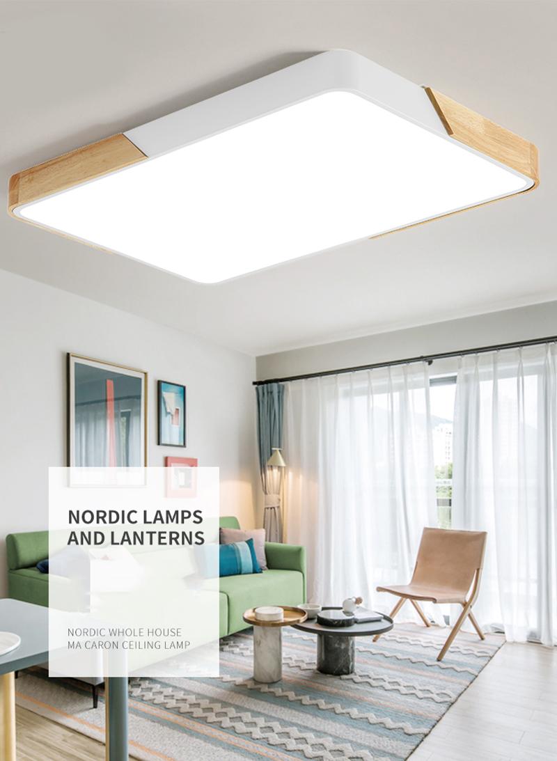 80W LED rechteckige Deckenleuchte dimmbar mit Fernbedienung LED Flurlampe  Küchelampe Wohnzimmer Schl