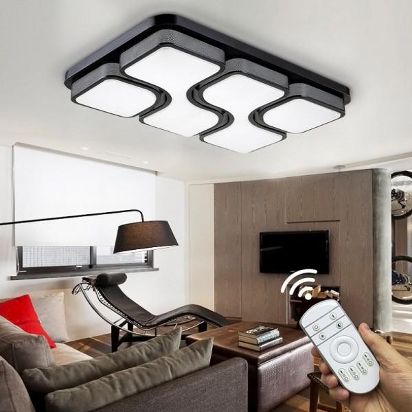LED Deckenleuchte 6908C-54W-Black volldimmbar Fernbedienung