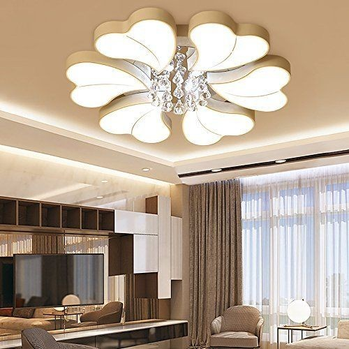 54W+4W LED Deckenlampe Leuchte Kristall Volldimmbar mit Fernbedienung PS6932-6L