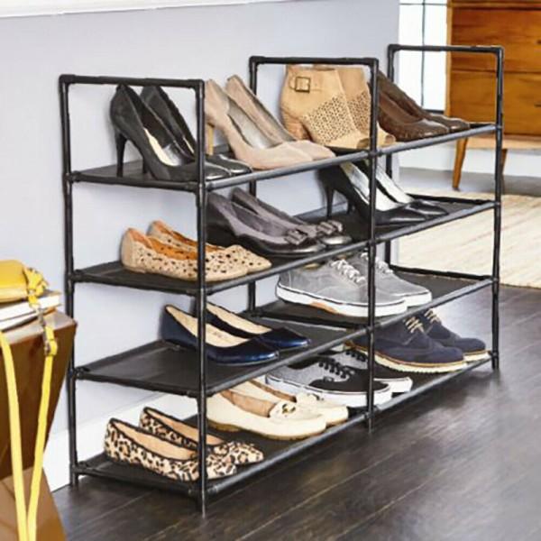 Schuhregal Schuhständer Schuhablage Schuhschrank mit 8 Ebene für bis 24 Paar Schuhe