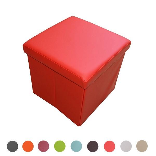 Sitzhocker Aufbewahrungsbox faltbar belastbar 1638-19-signalrot