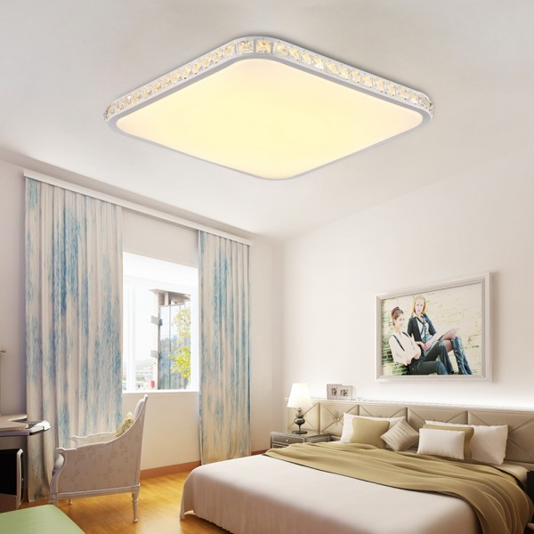 LED Deckenlampe Quadrat 6105 48W voll dimmbar mit Fernbedienung