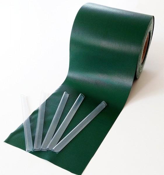 PVC 650g/m² 35mx19cm Sichtschutzstreifen Stabmattenzaun Streifen PVC Verschiedene Modelle für Den Ga