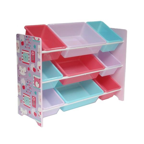 Kinder Aufbewahrungsregal Spielzeugregal mit 9 Boxen