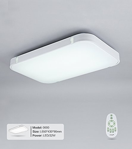 32W Weiss LED Deckenleuchte 3000-6000K volldimmbar mit Farbwechselfunktion