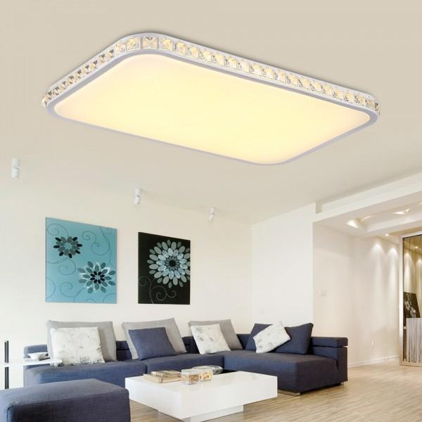 Ameride Kristal LED Deckenlampe Rechteck US-6105CK-48WW nicht dimmbar Warmweiss
