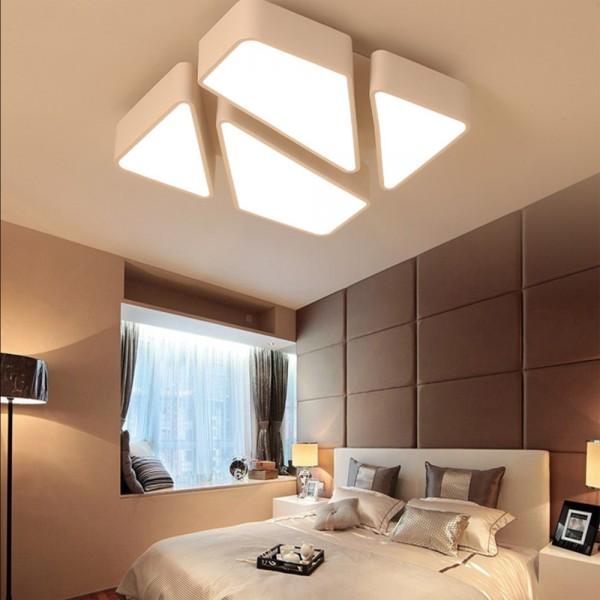 LED 48W Designer Deckenleuchte Lampe Dimmbar Fernbedienung warm-neutral-kaltweiß Weiß PS6
