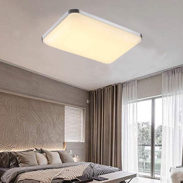 Ameride LED Deckenlampe Silber Warmweiß 48W