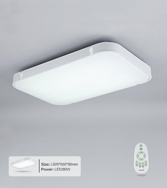 80W Silber LED Deckenleuchte 3000-6000K volldimmbar mit Farbwechselfunktion