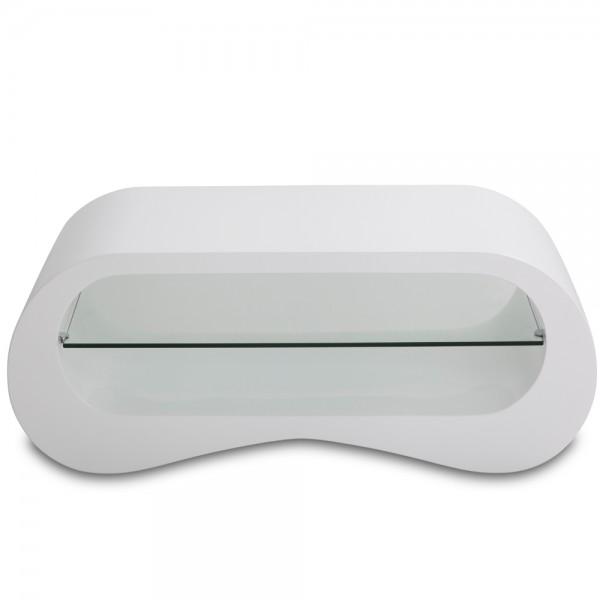 Stye home Couchtisch Beistelltisch mit 3 Ebenen Weiß SH16E08029-WIE