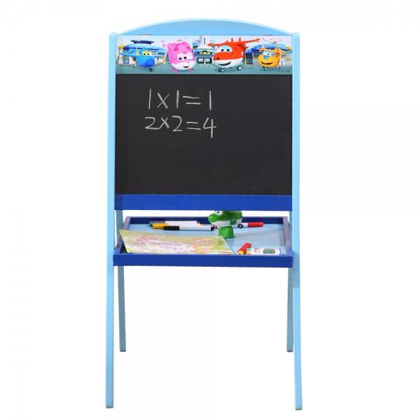 Kindertafel doppelseitige Schreibtafel mit Ablage Whiteboard & Tafel Holz (C3DJ002)