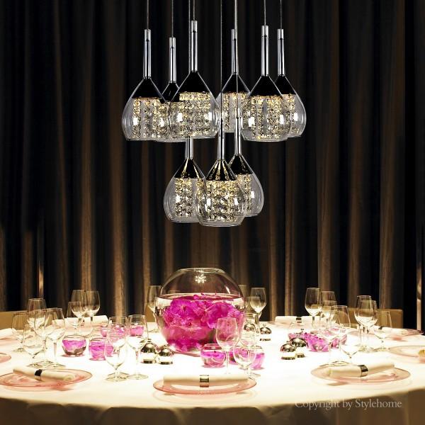 LED Kristal Hängelampe Kronleuchte 4822-09A-45W Warmweiss
