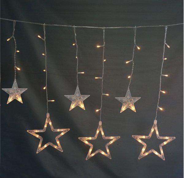 Style home LED Lichterkette Lichtervorhang mit 10 Sterne 115 Leuchtioden Innen & Außenlichterkette f