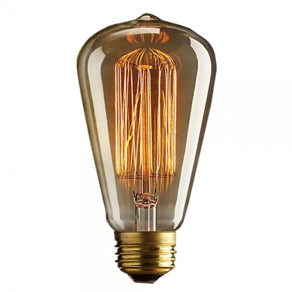 40W 19AK Edison Retro Glühlampe E27 Glühbirne Vintage Nostalgie Warmweiss 3000K