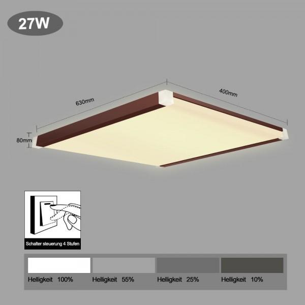 LED Deckenleuchte i502-27W Schaltersteuerung in 4 Stufen