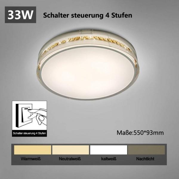 Style home LED Deckenleuchte 4 Stufen wechseln Kristal Deckenlampe Kinderlampe 33W