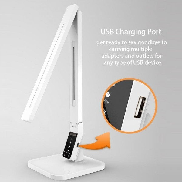 14W LED Design Dimmbar Tischlampe mit USB-Anschluss zum Aufladen für Smart phone SH-DL 02
