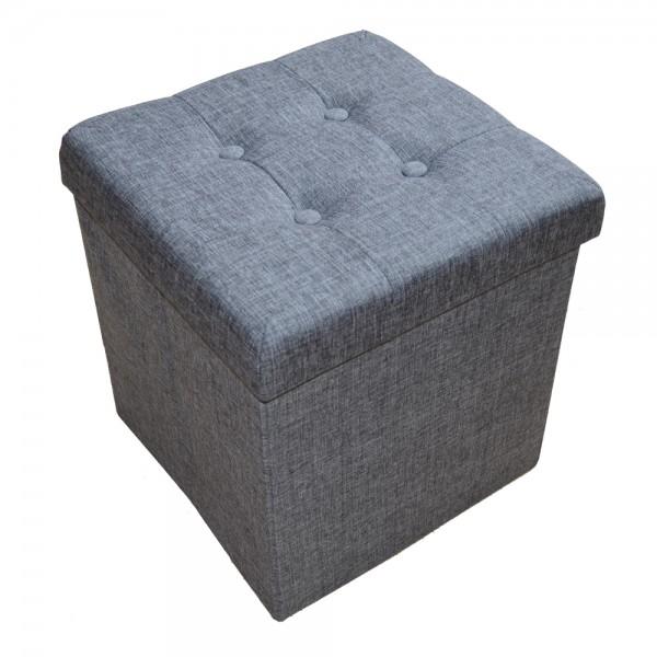 Sitzhocker Aufbewahrungsbox faltbar belastbar 2638-18 Dunkel-grau