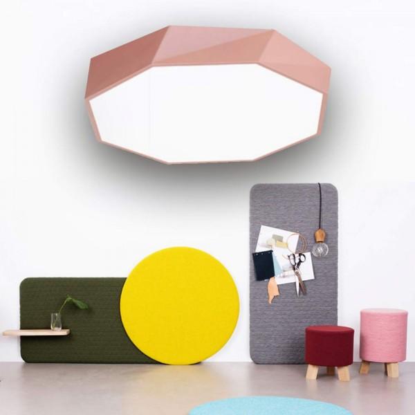 24W ultra dünn Deckenleuchte Lampe diamand dimmbar pink mit Fernbedienung