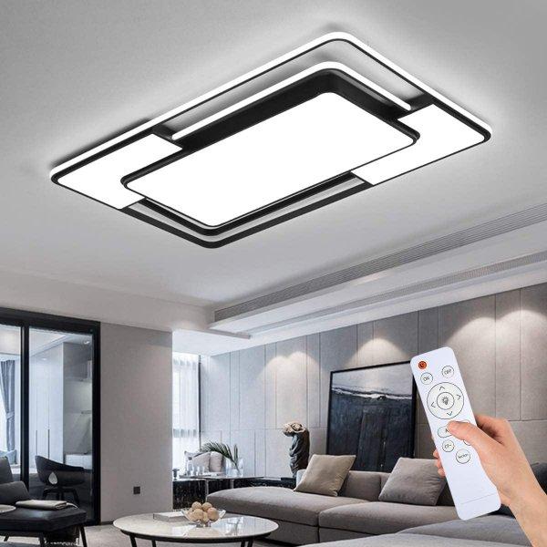 Style home LED Deckenleuchte mit Fernbedienung, 109W, voll dimmbar 3000k-6500k, Deckenlampe