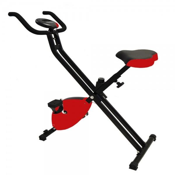 Heimtrainer Fitnessgerät Fitnessfahrrad Fitnessbike faltbar Digitale Anzeige Pulsmesser Ergometer Ro