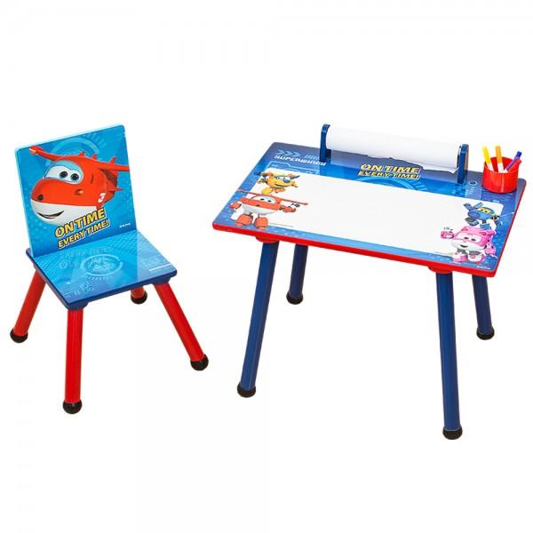 Super Wings 2tlg. Kinder Sitzgruppe Holztisch mit Stuhl