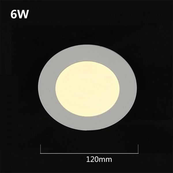 LED 480LM Panelleuchte Deckenleuchte Rund warmweiss 120mm