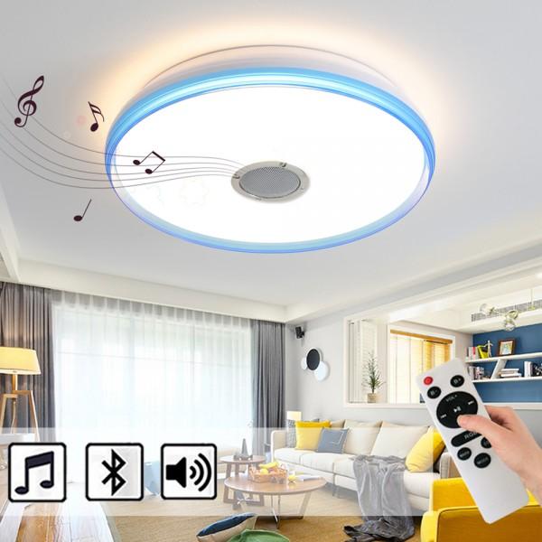 24W LED Deckenleuchte mit Bluetooth Lautsprecher dimmbar mit Fernbedienung