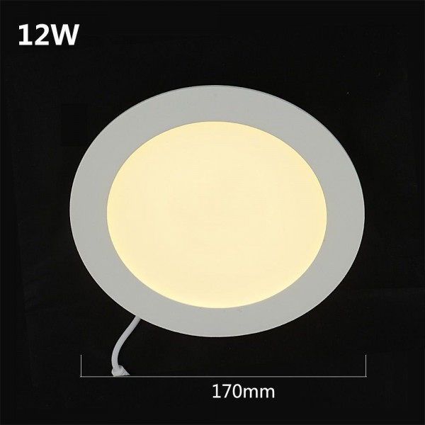 LED 960LM Panelleuchte Deckenleuchte Rund warmweiss 170mm