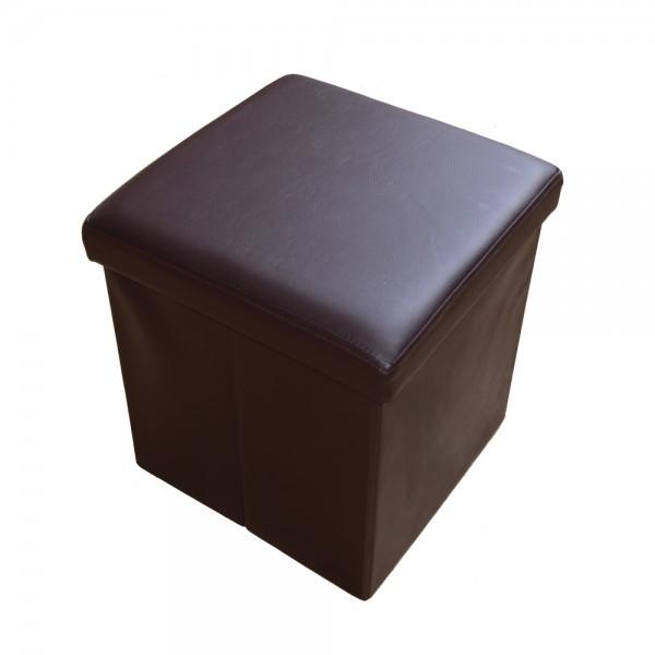 Sitzhocker Aufbewahrungsbox faltbar belastbar 1638-27 Dunkel-braun
