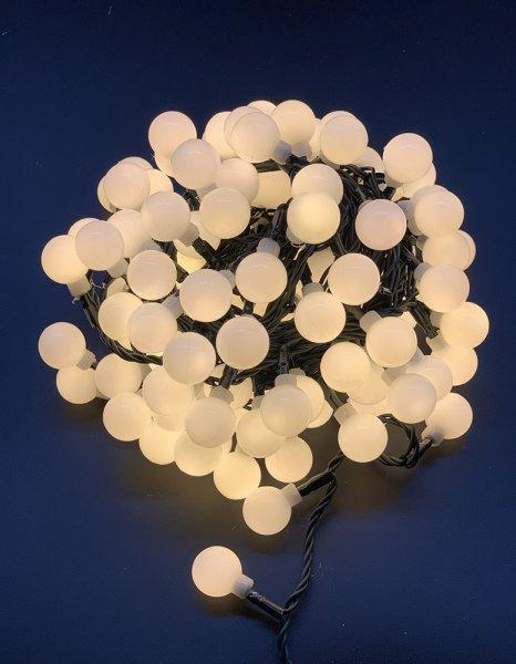 120er LED Lichterkette 12 Meter 8 Modi Out- & Indoor Lampe Warmweiß IP44 Wasserdicht