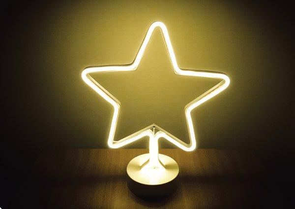 Style home LED Nachtlicht Stern Licht Warmweiß Batteriebetriebene Lampe für Haus Party Weihnachten H