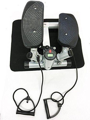 Stepper Fitness incl. Traningsbänder Display S1-A003 Silber