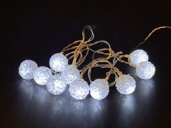 Style home Lichterkette 10er LED Lichterketten Innen Batteriebetriebene Lichter mit EVA Kugel & Time