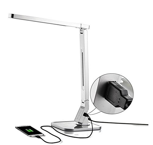 LED Tischlampe mit USB AnschlussDL03 11-14 W Dimmbar, Silber