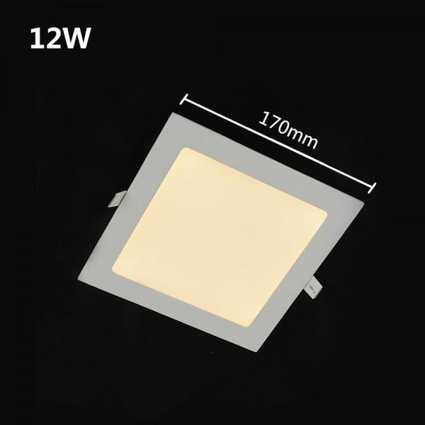 960LM LED Panelleuchte Deckenleuchte Vier eckig warmweiss