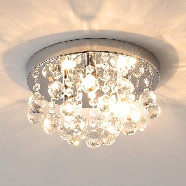 Style home Kristalllampe Deckenleuchte moderne Deckenlampe 3 Flamming, Kristallkronleuchter