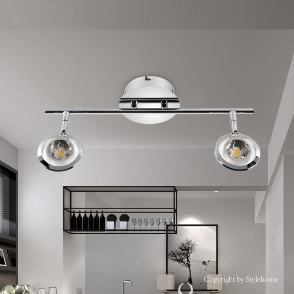 LED Deckenlampe drehbaren Spots Tüv geprüft 3826-2C-10W Warmweiss