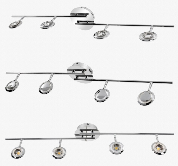 LED Deckenlampe drehbaren Spots 3826-4C-20W Warmweiss