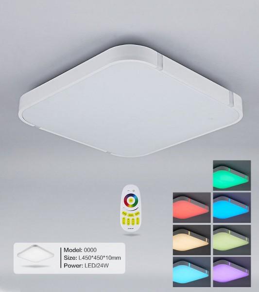 Silber LED Deckenleuchte 3000-6000K volldimmbar mit Farbwechselfunktion