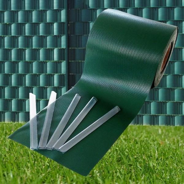 PVC 450g/m² 35mx19cm Sichtschutzstreifen Stabmattenzaun Streifen PVC Verschiedene Modelle für den Ga