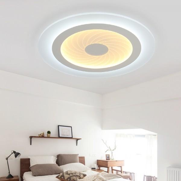 LED Deckenlampe 6902 45W ultra-dünn voll dimmbar mit Fernbedienung rund