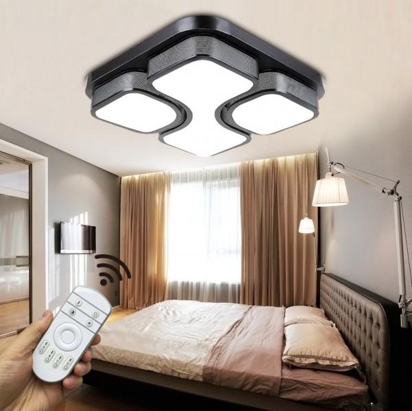 LED Deckenleuchte 6908F-54W-Black volldimmbar Fernbedienung