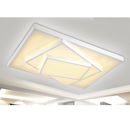 LED Deckenleuchte Metall Rahmen 6906C-48W-White dimmbar Fernbedienung