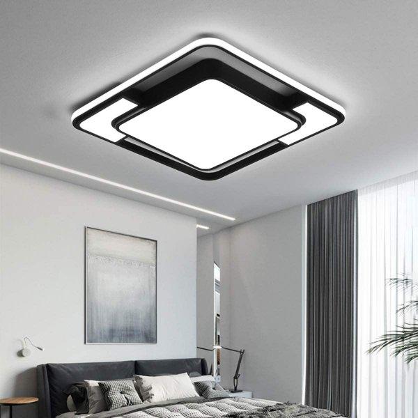 Style home LED Deckenleuchte Deckenlampe, 45W voll dimmbar mit Fernbedineung
