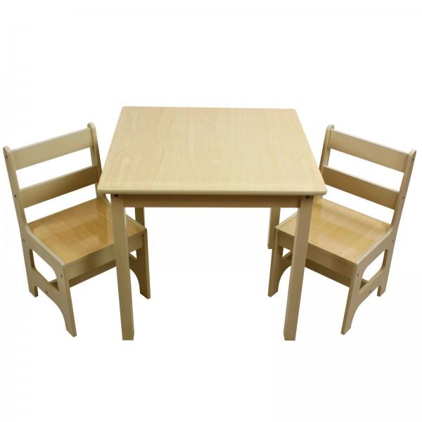Kindersitzgruppe Kindertisch mit 2 Kinderstühlen Holz
