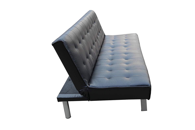 Style Home Schlafsofa Couch Bett Kunstleder Holzgestell