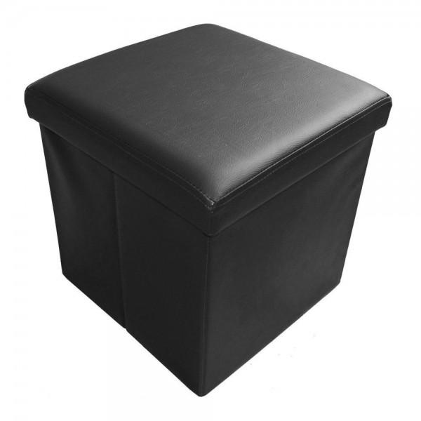 Sitzhocker Aufbewahrungsbox faltbar belastbar 1638-29 Tiefschwarz